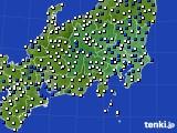 関東・甲信地方のアメダス実況(風向・風速)(2019年04月09日)