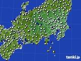 2019年04月10日の関東・甲信地方のアメダス(風向・風速)
