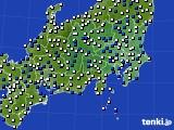 2019年04月11日の関東・甲信地方のアメダス(風向・風速)