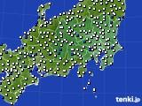 2019年04月13日の関東・甲信地方のアメダス(風向・風速)
