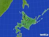 北海道地方のアメダス実況(積雪深)(2019年04月14日)