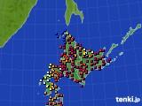 北海道地方のアメダス実況(日照時間)(2019年04月14日)