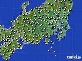 2019年04月14日の関東・甲信地方のアメダス(風向・風速)
