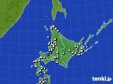 北海道地方のアメダス実況(降水量)(2019年04月15日)
