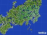 2019年04月15日の関東・甲信地方のアメダス(風向・風速)