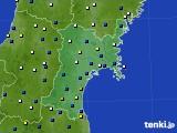宮城県のアメダス実況(風向・風速)(2019年04月15日)