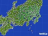 関東・甲信地方のアメダス実況(風向・風速)(2019年04月16日)