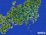 関東・甲信地方のアメダス実況(日照時間)(2019年04月17日)
