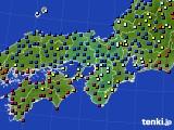 2019年04月19日の近畿地方のアメダス(日照時間)