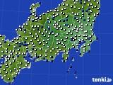 関東・甲信地方のアメダス実況(風向・風速)(2019年04月19日)