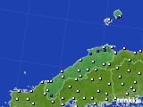 島根県のアメダス実況(風向・風速)(2019年04月21日)
