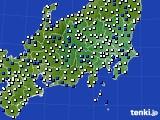 2019年04月22日の関東・甲信地方のアメダス(風向・風速)