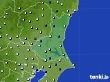 茨城県のアメダス実況(風向・風速)(2019年04月22日)