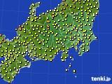 関東・甲信地方のアメダス実況(気温)(2019年04月23日)