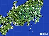 2019年04月23日の関東・甲信地方のアメダス(風向・風速)