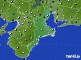 2019年04月23日の三重県のアメダス(風向・風速)