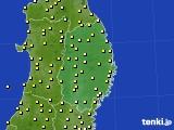 2019年04月24日の岩手県のアメダス(気温)