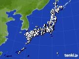 アメダス実況(風向・風速)(2019年04月24日)