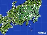 2019年04月25日の関東・甲信地方のアメダス(風向・風速)