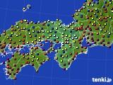 2019年04月27日の近畿地方のアメダス(日照時間)