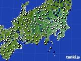 2019年05月02日の関東・甲信地方のアメダス(風向・風速)