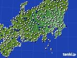 2019年05月04日の関東・甲信地方のアメダス(風向・風速)