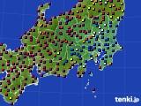 2019年05月07日の関東・甲信地方のアメダス(日照時間)