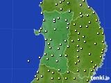 2019年05月08日の秋田県のアメダス(気温)