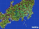 2019年05月13日の関東・甲信地方のアメダス(日照時間)