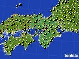 近畿地方のアメダス実況(気温)(2019年05月15日)