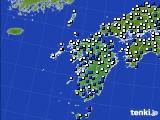九州地方のアメダス実況(風向・風速)(2019年05月17日)