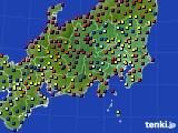 2019年05月19日の関東・甲信地方のアメダス(日照時間)