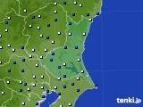 茨城県のアメダス実況(風向・風速)(2019年05月19日)