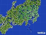 関東・甲信地方のアメダス実況(風向・風速)(2019年05月20日)