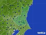 茨城県のアメダス実況(風向・風速)(2019年05月20日)