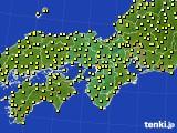 近畿地方のアメダス実況(気温)(2019年05月21日)