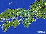 近畿地方のアメダス実況(風向・風速)(2019年05月22日)