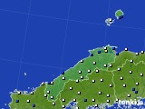 島根県のアメダス実況(風向・風速)(2019年05月23日)