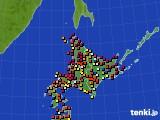 北海道地方のアメダス実況(日照時間)(2019年05月24日)