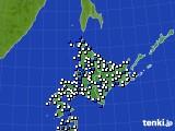北海道地方のアメダス実況(風向・風速)(2019年05月24日)