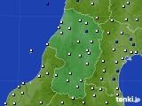 2019年05月25日の山形県のアメダス(風向・風速)
