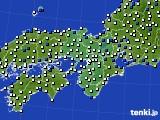 2019年05月29日の近畿地方のアメダス(風向・風速)