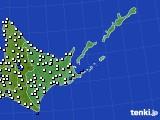 2019年05月29日の道東のアメダス(風向・風速)