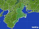2019年05月30日の三重県のアメダス(風向・風速)