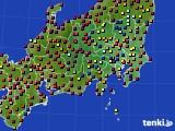 2019年06月01日の関東・甲信地方のアメダス(日照時間)