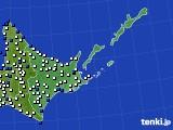 2019年06月02日の道東のアメダス(風向・風速)