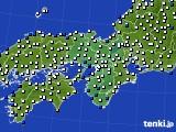 近畿地方のアメダス実況(風向・風速)(2019年06月07日)