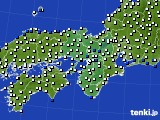2019年06月09日の近畿地方のアメダス(風向・風速)