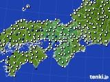 2019年06月10日の近畿地方のアメダス(風向・風速)
