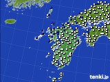 九州地方のアメダス実況(風向・風速)(2019年06月11日)